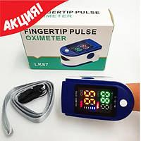 Пульсоксиметр Lk-87/ Измеритель пульса.Пульсоксиметр на палец, Пульсометр компактный., фото 1