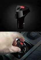 Автомобильное зарядное устройство с LCD Remax Aliens RCC-208 2*USB Черное, фото 2