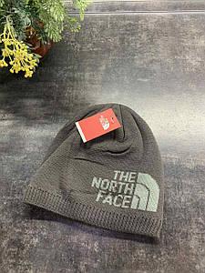 Зимняя шапка Te North Face серый