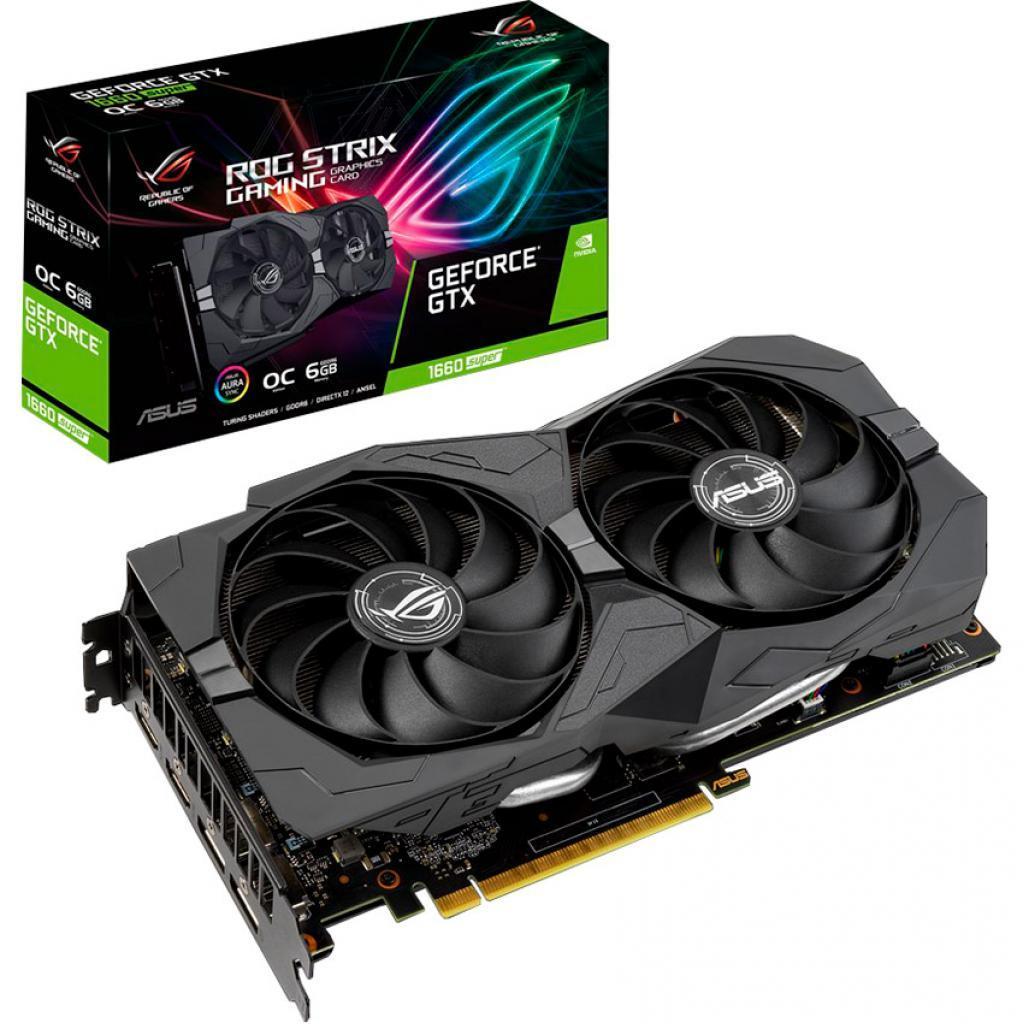 Видеокарта ASUS GeForce GTX1660 SUPER 6144Mb ROG STRIX OC GAMING (ROG-STRIX-GTX1660S-O6G-GAMING)