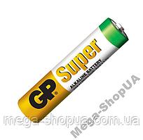Щелочная батарейка GP Super Alkaline AAA 1.5V LR-03. Батарейка минипальчиковая ААА. Элемент питания - 1 шт