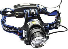 Фонарик тактический светодиодный 6699 T6 налобный велосипедный