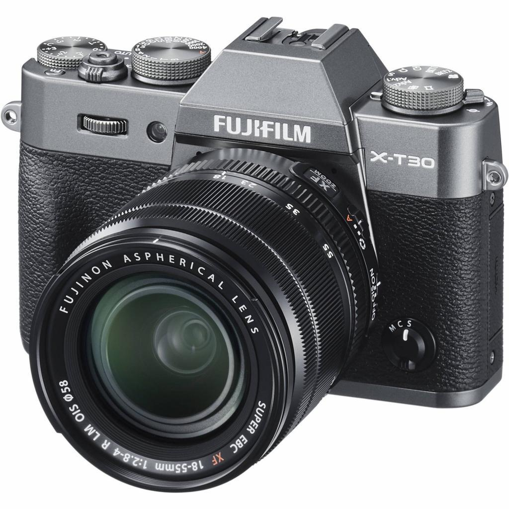 Цифровой фотоаппарат Fujifilm X-T30 + XF 18-55mm F2.8-4R Kit Charcoal Silver (16620125)