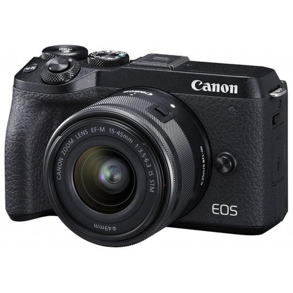 Цифровой фотоаппарат Canon EOS M6 Mark II + 15-45 IS STM + EVF Kit Black (3611C053)