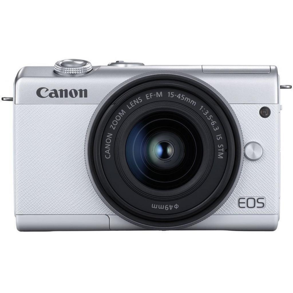 Цифровой фотоаппарат Canon EOS M200 + 15-45 IS STM White (3700C032)