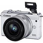 Цифровой фотоаппарат Canon EOS M200 + 15-45 IS STM White (3700C032), фото 3