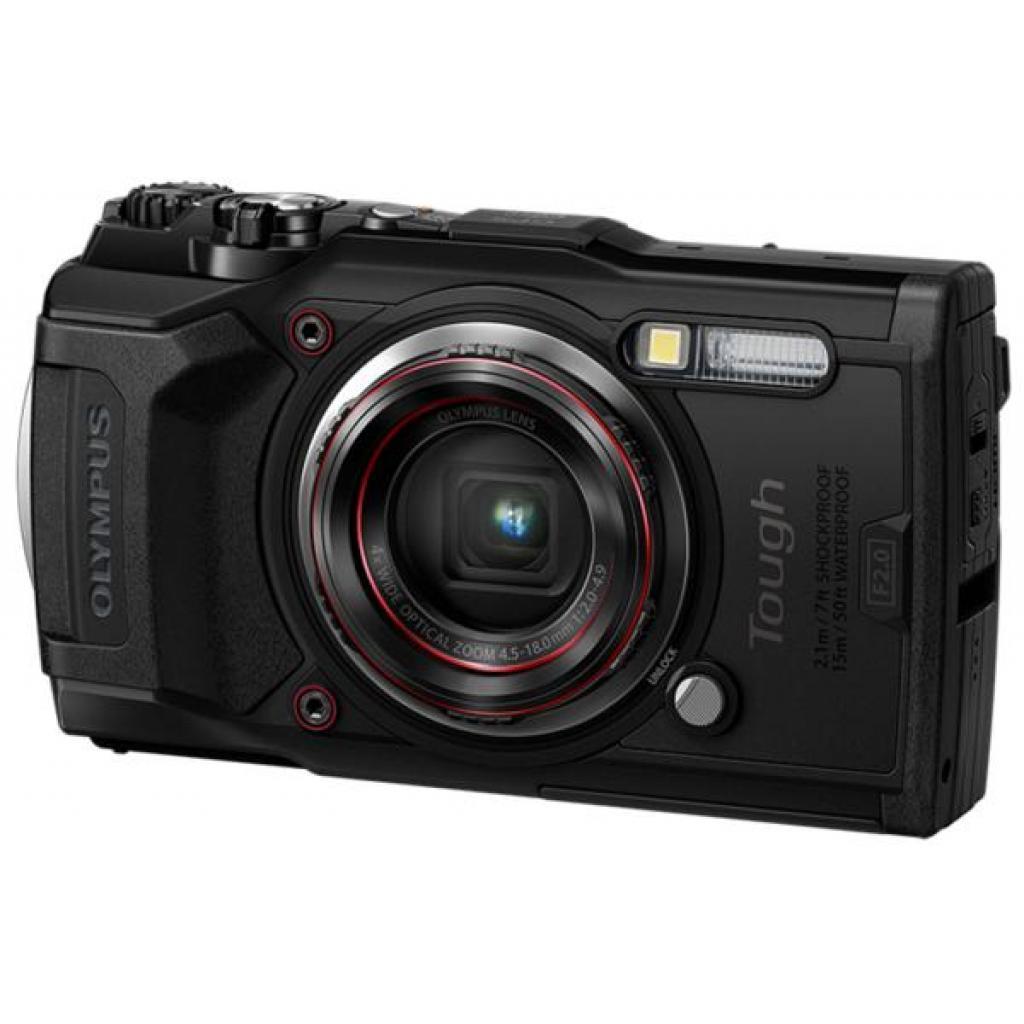 Цифровой фотоаппарат OLYMPUS TG-6 Black (Waterproof - 15m; GPS; 4K; Wi-Fi) (V104210BE000)