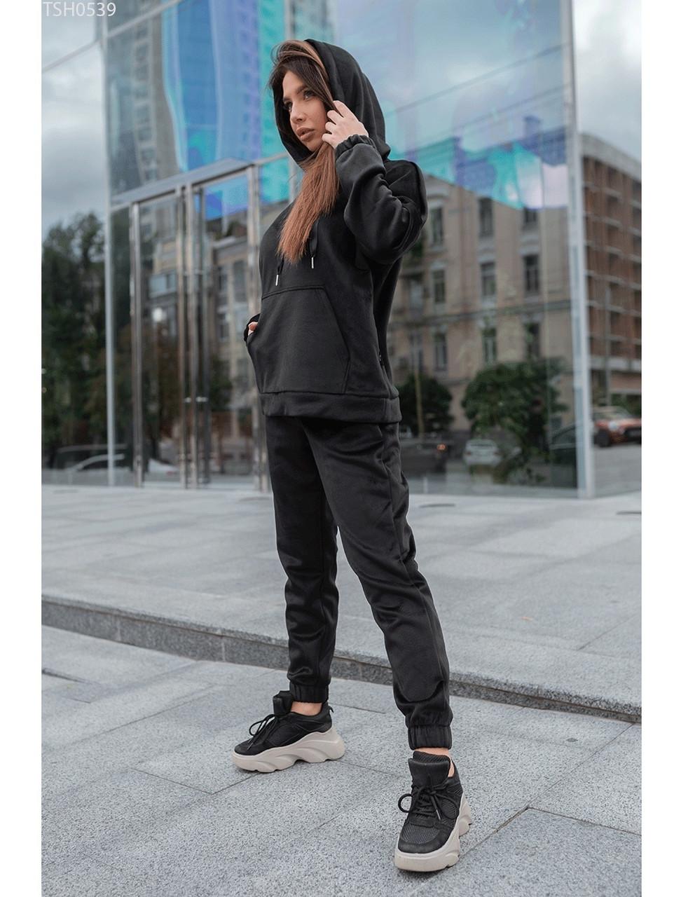Женский спортивный костюм Staff velour black XS