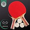 Набор для настольного тенниса пинг-понга 2 Ракетки и 3 шарика GIANT DRAGON SUPER TENSION 40+ Дерево (MT-5683)