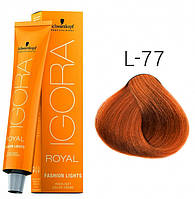 Фарба для волосся Schwarzkopf Professional Igora Royal Fashion Lights, 60 мл L-77 Мідний