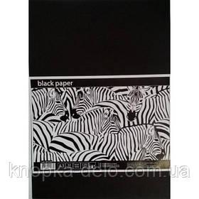 Черная бумага для рисования в п/п пакете А4, 10 листов ВР4110Е