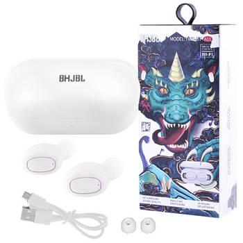 Беспроводные bluetooth-наушники вакуумные для телефона BHJBL TWS-BT A11 с кейсом, white