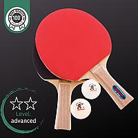 Набір для настільного тенісу GIANT DRAGON SHOOTER 2*, деревина, 2 ракетки, 2 м'ячі c чехлом (MT-5682)