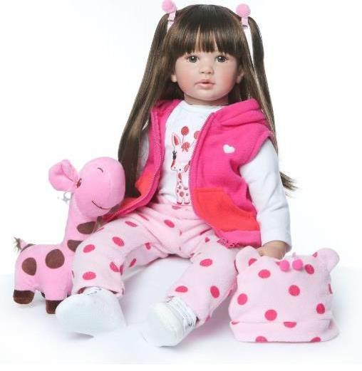 Силиконовая Коллекционная Кукла Реборн Reborn Девочка Лия ( Виниловая Кукла ) Высота 60 см