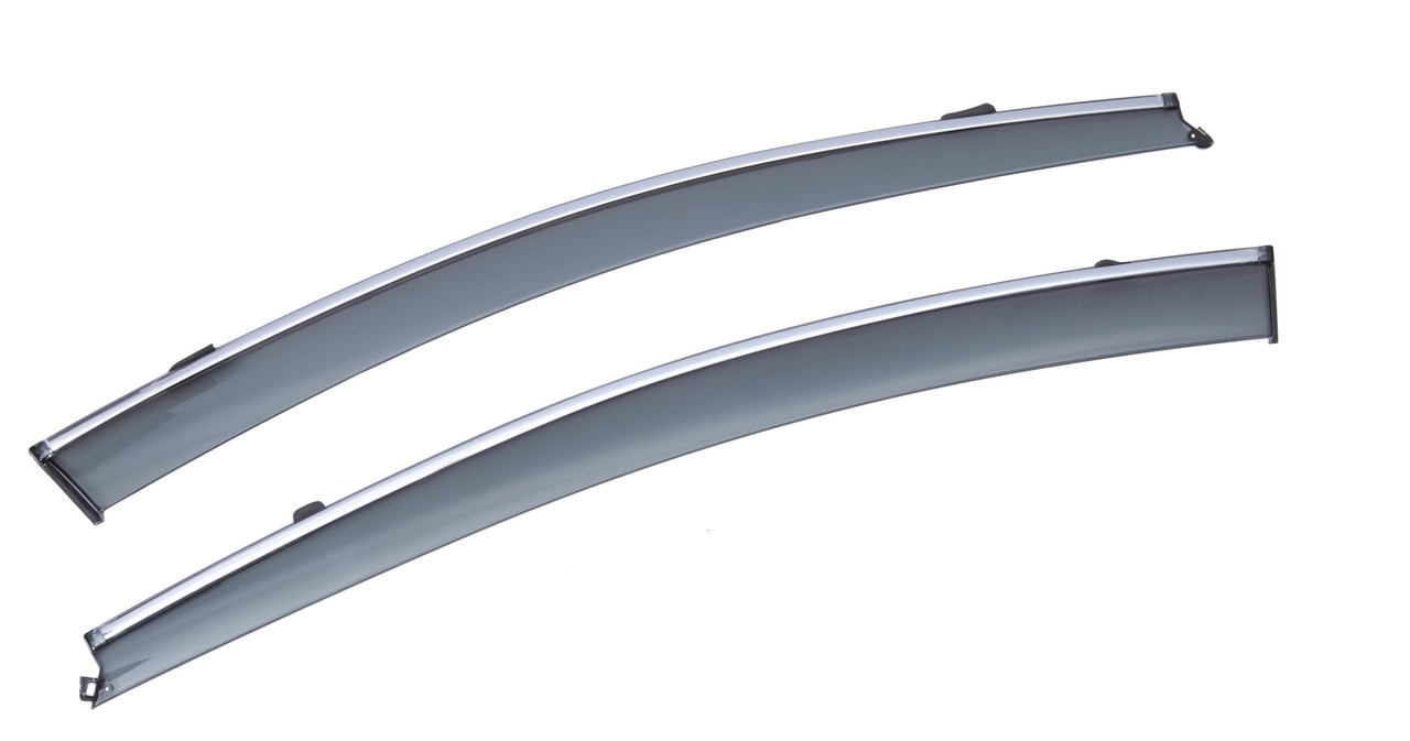 Дефлекторы окон (ветровики) с хромом FORD EDGE 2015-