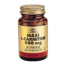 Аминокислота Солгар L-Карнитин 500 мг 30 таблеток Solgar L-Carnitine (5324857)