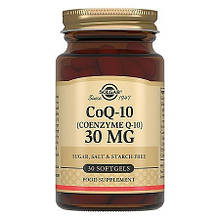 Аминокислоты Солгар Коэнзим Q-10 30 мг 30 капсул Solgar Solgar Coenzyme Q-10 (5324888)