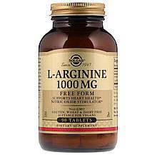 Аминокислота Солгар L-Аргинин 1000 мг 90 таблеток Solgar L-Arginine (5324855)