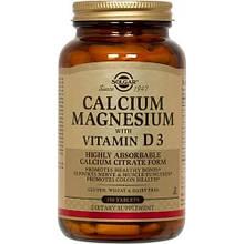 Микроэлементы Солгар Кальций Магний D3 1550 мг 150 таблеток Solgar Calcium Magnesium Vitamin D3 (5324882)