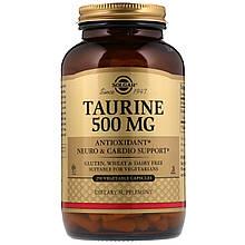 Аминокислоты Солгар Таурин 500 мг 250 капсул Solgar Taurine (5324944)