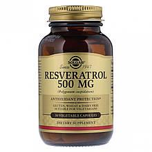 Растения Солгар Ресвератрол 500 мг 30 капсул Solgar Resveratrol (7857032)