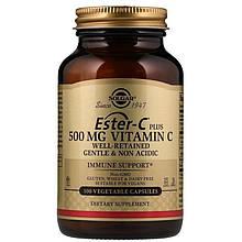 Витамины Солгар Эстер-С+Витамин С 500 мг 100 капсул Solgar Ester-C Plus Vitamin C (7851312)