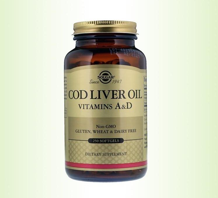 Биологически Активные Добавки Солгар Жир с печени трески 250 капсул Solgar Сod Liver Oil(7846554)