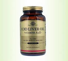 Біологічно Активні Добавки Солгар Жир з печінки тріски 250 капсул Solgar Сod Liver Oil(7846554)