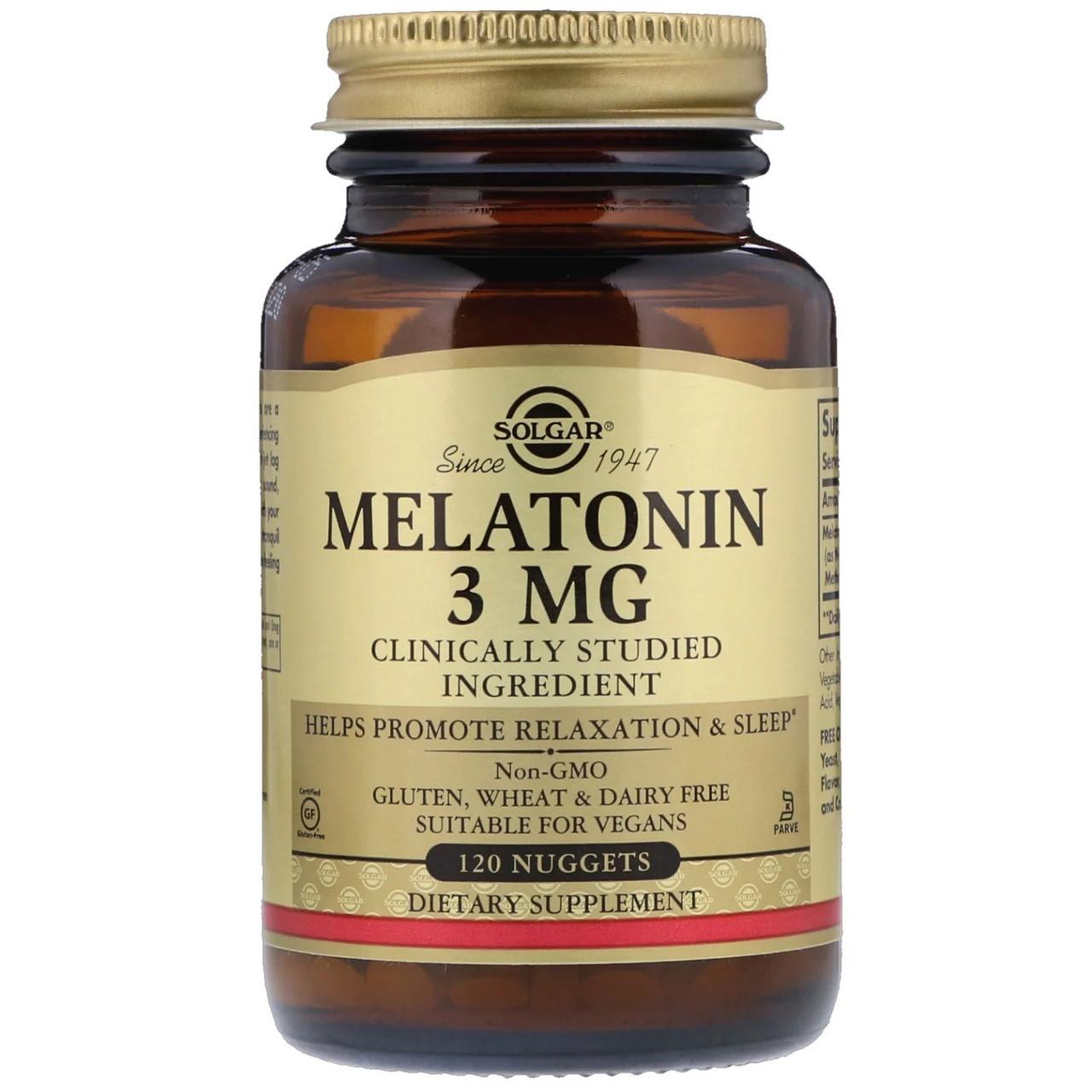 Біологічно Активні Добавки Солгар Мелатонін 3 мг 120 таблеток Solgar Melatonin (5324937)