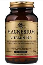 Минералы Солгар Магний с витамином В6 250 таблеток Solgar Magnesium Vitamin B6(8300360)