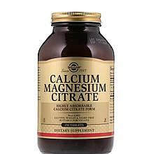 Минералы Солгар Цитрат Кальция 1000 мг и Магния 500 мг 250 таблеток Solgar Magnesium Citrate Calcium Citrate