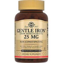 Минералы Солгар Железо Джентл Айрон 25 мг 90 капсул Solgar Gentle Iron (5324897)