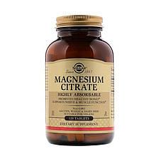 Минералы Солгар Цитрат Магния 120 таблеток Solgar Magnesium Citrate