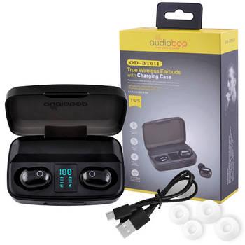 Беспроводные bluetooth-наушники вакуумные для телефона OD-BT011 с кейсом, black
