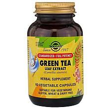 Растения Солгар Зеленый чай экстракт 60 капсул Solgar Green Tea Leaf (7851457)