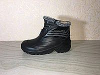 Ботинки мужские, ботинки ЭВА, Обувь EVA, зимние ботинки ПВХ, Зимние чёрные ботинки, фото 1