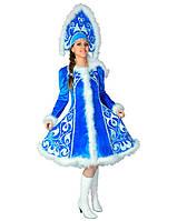 Костюм для взрослых Снегурочка. Комплект - платье, кокошник (197)