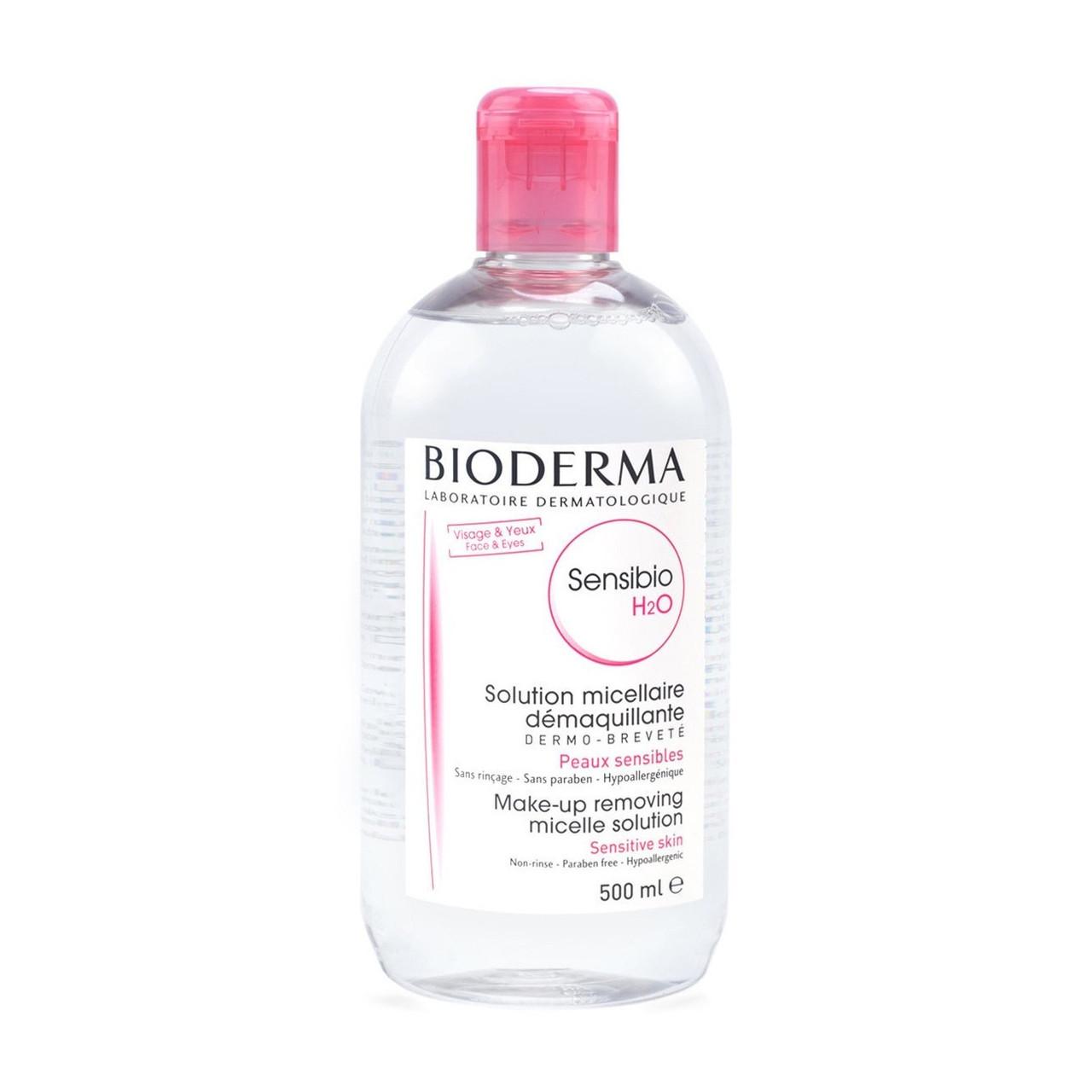 Мицеллярный лосьон Bioderma Sensibio H2O Micellaire Solution 500 мл