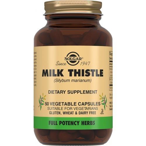 Биологически активные добавки Solgar Расторопша пятнистая 50 капсул Solgar Milk Thistle (5324916)