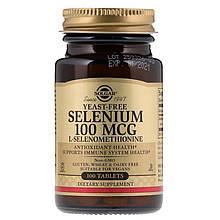 Минералы Solgar Селен-100 мкг 100 таблеток Selenium (5324917)