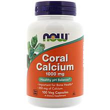 Минералы Now Foods Кальций из кораллов 100 капсул на растительной основе Coral Calcium 1000 мг