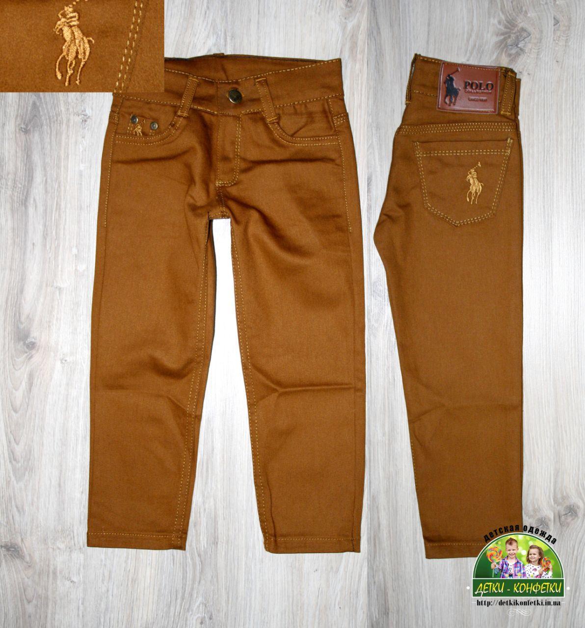 Горчичные джинсы Polo для мальчика 3 года
