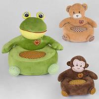 Детское мягкое кресло 3 вида.