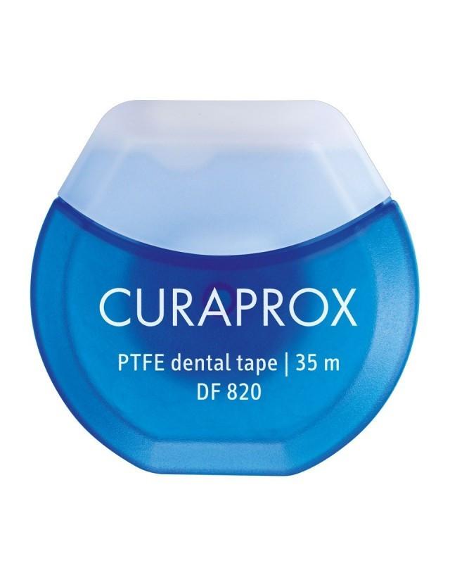Зубна нитка Curaprox тефлонова з хлоргексидином 35 м
