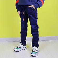 58066 Синие теплые джинсы на резинке для мальчика тм Seagull размер 98,104,110 см