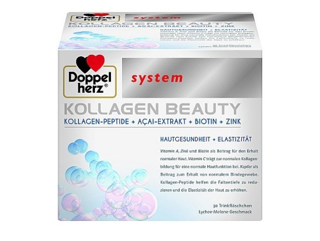 Витамины и минералы Doppelherz Бьюти-коллаген доппельгерц со вкусом дыни и личи System Kollagen Beauty по 25