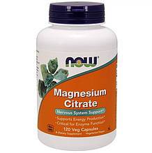 Биологически активные добавки Now Foods Цитрат магния 120 растительных капсул (NOW-01294)