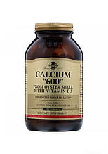 Минералы Solgar Кальций 600 из устричных раковин с витамином D3 240 таблеток