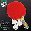 Набор для настольного тенниса пинг-понга 1 ракетка деревянная и 3 мяча GIANT DRAGON KARATE (MT-6544)