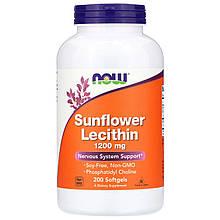 Биологически активные добавки Now Foods Sunflower Lecithin 1200 mg 200 Softgels (NOW-02313)